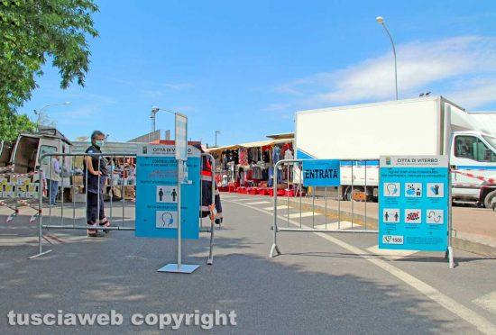 Viterbo - L'entrata del mercato del sabato al Carmine