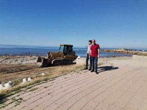 """Civitavecchia - Il consolidamento della spiaggia davanti a viale Garibaldi """"Marina"""""""
