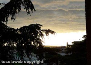Un insolito tramonto...