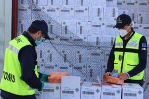 Civitavecchia - Sdoganati 3 milioni e mezzo di guanti