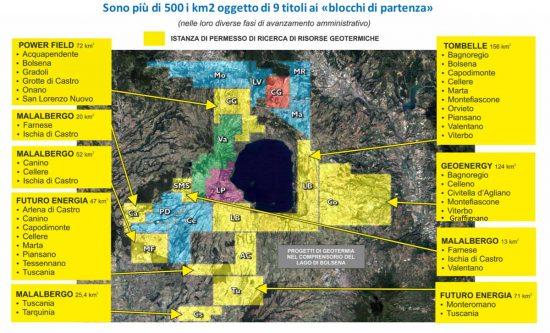 Viterbo - Le richieste per attivare impianti geotermici sul territorio provinciale