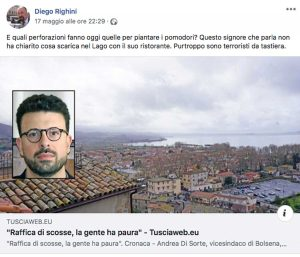Geotermia - Il commento sull'account di Diego Righini