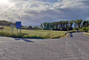 L'incrocio per la Toscana sulla Cassia