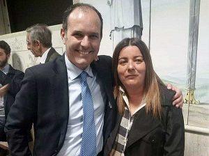 Daniela Bordo con Sergio Caci