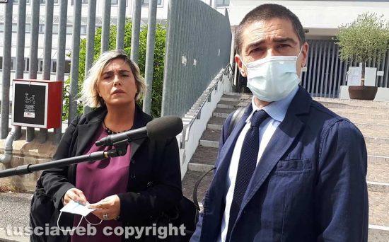Serena Gasperini e Daniele Fabrizi - I difensori di Andrea Landolfi