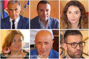 Civita Castellana - La giunta - Il sindaco Caprioli, Cataldi, Pieri, Consoli, Angeletti e Sebastiani