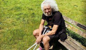 Brian May dopo l'infarto
