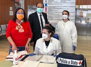 Viterbo - I test sierologici sulla polizia di stato alla Cittadella della salute
