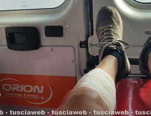 La ferita alla gamba di Andrea Marcosano