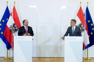 Vienna - La conferenza del ministro degli Esteri Alexander Schallenberg