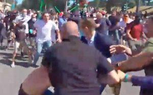 Roma - Scontri alla manifestazione di Forza Nuova e ultras