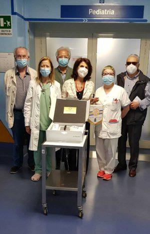 Il Rotary club dona un otoscopio alla Pediatria di Belcolle