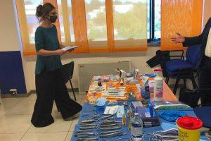 Viterbo - Una - Un momento dell'esame del corso per assistente di studio odontoiatrico