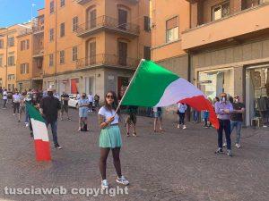 Viterbo - Le Mascherine Tricolori a piazza della Repubblica