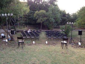 Vetralla - Il giardino di palazzo Paolocci dove saranno organizzati gli eventi di Officina Meraviglia