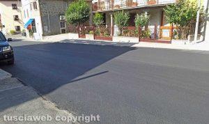 Montefiascone - L'asfaltatura della Cassia a Zepponami
