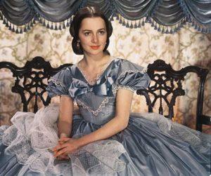 """Olivia de Havilland nel ruolo di Melania di """"Via col vento"""""""
