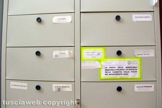 Viterbo - Unitus - Santa Maria in Gradi - La stanza archivio e fotocopie