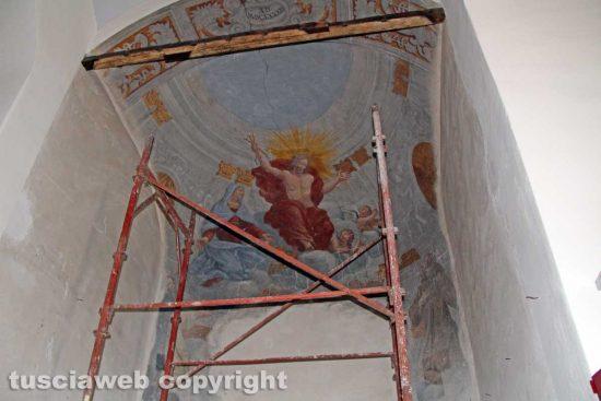 Viterbo - Unitus - Santa Maria in Gradi - L'affresco all'interno del sistema museale d'ateneo