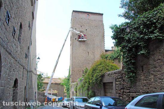 Viterbo - La torre del seminario detta anche della massoneria