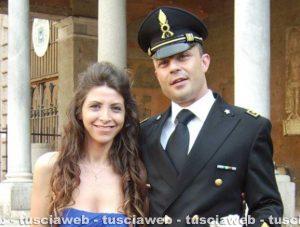 Maurizio Pagliaroli con la moglie