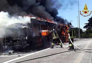 Roma - Bus a fuoco