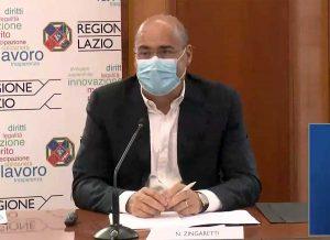 Nicola Zingaretti in conferenza stampa