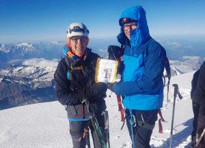 Il Cai di Viterbo sulla cima del Monte Bianco