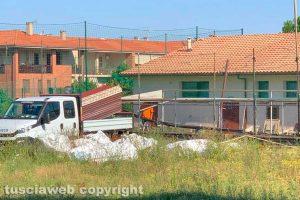 Viterbo - I lavori preliminari al campo del Pilastro