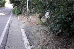 Viterbo - Incuria sui marciapiedi di Bagnaia