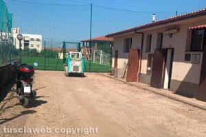 Viterbo - I lavori al campo del Pilastro