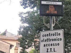 Viterbo - Ztl centro storico - Varco