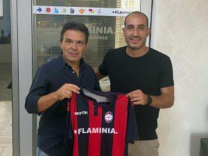 Sport - Calcio - Gian Matteo Gasperini col presidente della Flaminia Bravini