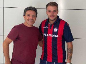 Sport - Calcio - Flaminia Civita Castellana - Jacopo Sciamanna col presidente Bravini