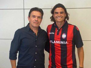Sport - Calcio - Loris Traditi col presidente della Flaminia Bravini