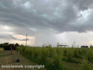 Viterbo - Pioggia in arrivo a Monterazzano