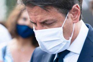 Genova - Il presidente del consiglio Giuseppe Conte alla cerimonia a due anni dal crollo del ponte Morandi