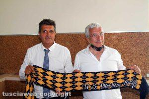Sport - Calcio - Viterbese - Il presidente Romano col nuovo mister Maurizi