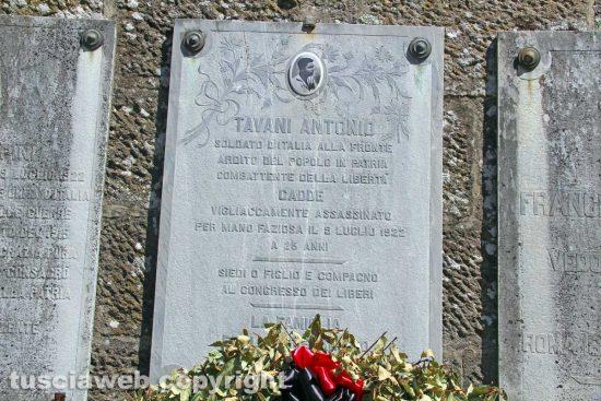 Viterbo - L'ardito del popolo Antonio Tavani