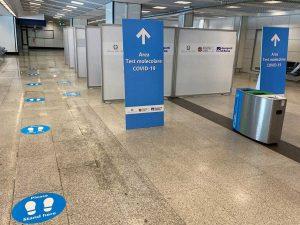 Aree per i test sul Coronavirus agli aeroporti di Fiumicino e Ciampino