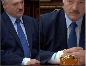 Il presidente bielorusso Lukashenko è stato visto con una benda al braccio