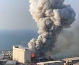 Una forte esplosione a Beirut