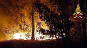 Tarquinia - Grosso incendio in un campo, nella zona dell'ex aeroporto
