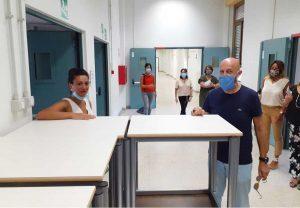 Civitavecchia - Il sopralluogo del sindaco Tedesco nelle scuole