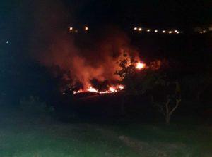 Acquapendente - L'incendio a Trevinano