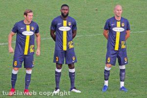 Sport - Calcio - Viterbese - Da sinistra: Baschirotto, Mbende e Markic