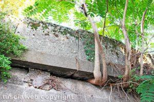 Viterbo - Il muro davanti alla stazione di Porta Romana