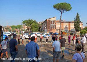 Orte - La manifestazione contro il rinvio dell'apertura delle scuole