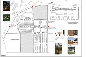 Tarquinia - I progetti per il lido - L'area parcheggio