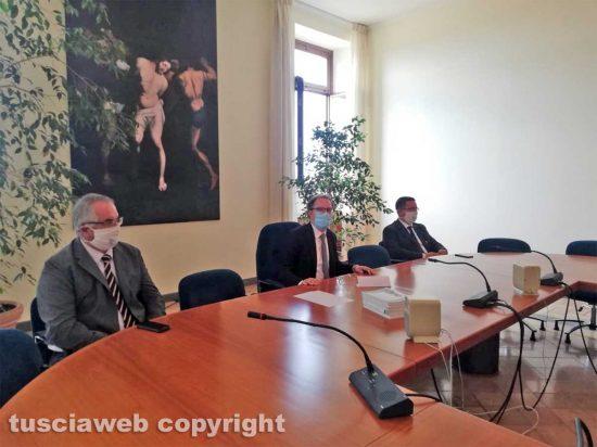 Viterbo - La conferenza stampa del rettore Unitus Stefano Ubertini